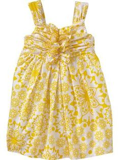 Floral-Print Poplin Dresses for Baby | Old Navy... I need to get this for Lucy. Love, love, love yellow, especially on my little red-head!