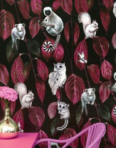 Siberia Dark Wallpaper by Witch and Watchman – The Pattern Collective