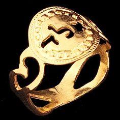 Kabbalah gold ring - size 6.5 By Kelka Jewelry