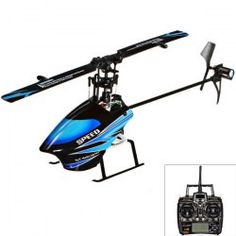 $110.73 WLtoys New Arrival V933 Flybarless Single Blade 6CH 3-Axis Gyro RC 3D Mini Helicopter - Blue