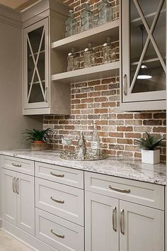 Brooklyn Brownstone Rustic Wood & Brick Cabinet Fixture