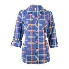 Plaid Button Front Shirt