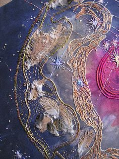 ♒ Enchanting Embroidery ♒ embroidered  space nebula art.