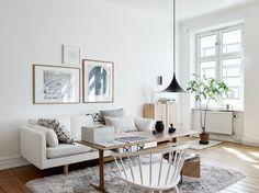 Light Serene Scandinavian apartment