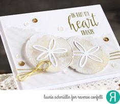 Card by Laurie Schmidlin. Reverse Confetti stamp set: My Heart Trusts. Confetti Cuts: Sand Dollar. Faith card. Encouragement card. Friendship card.