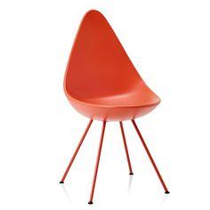 Fritz Hansen Drop Chair Powder Coated Legs by Arne Jacobsen | Chairs | Furniture | Heal's