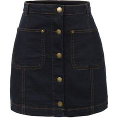 Now 35% off, $25 - Shop this and similar LE3NO mini skirts - This vintage denim a-line button down mini skirt is what every women should own this season. Front...