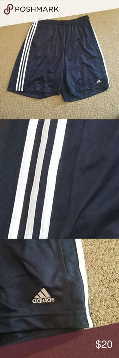 "Adidas Mens Basketball Shorts 2XL Adidas Mens Basketball Shorts Black White Front Pockets Climacool Clima365 2XL  Gently worn Size:  2XL Elastic waist with drawstring 2 Front pockets Black with 3 White Stripes ""The Brand With The 3 Stripes""  Refer to the pictures as the best condition description The item in the pictures is the item you will receive adidas Shorts Athletic"