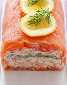 Smoked Salmon Rolls with Yoghurt Filling
