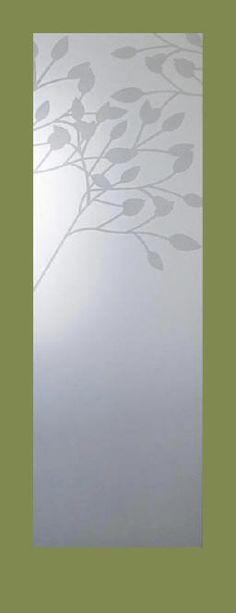 Floral etched glass interior doors. Order online.