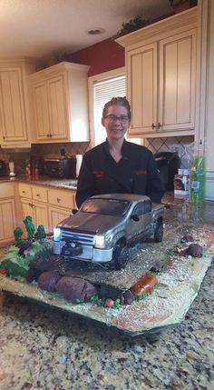 Chevy Pickup Truck Cake - Cake by Wendy Lynne Begy Monster Truck Birthday Cake, Mario Birthday Cake, Food Truck Menu, Food Truck Design, Chevy Pickup Trucks, Chevy Pickups, Truck Cakes, Car Cakes, Cake Decorating Classes