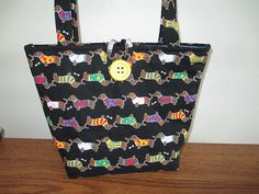 Dog Purse/Tote Dachshunds quilted by CutePurseNalities on Etsy, $24.00