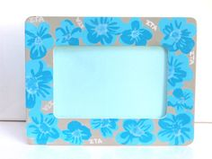 Lilly Pulitzer inspired Zeta Tau Alpha photo frame 6x4, hand painted OFFICIAL LICENSED PRODUCT