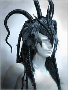 Would love to take nude pics in this fantasy headpiece Larp, Mode Costume, Dragon Costume, Baphomet, Circlet, Costume Makeup, Headgear, Costume Accessories, Headdress
