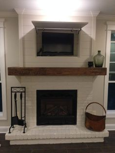shiplap on a fireplace - Google Search