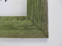 "Barnwood Frame, Leaf Green, Distressed With 2"" Moulding , Select Size Or Made To…"