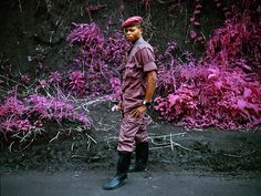 Richard Mosse apparently used the original Aerochrome film, designed as a film for surveillance applications to help differentiate camouflaged objects, in photographing what was supposedly daily life in the Congo.