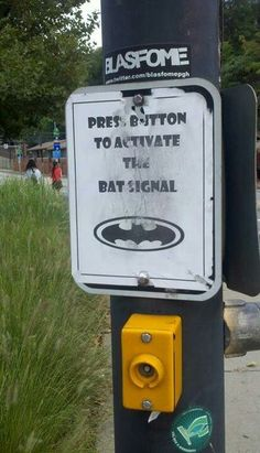 Bat Signal for Alfred to call Bruce home.We need one in Philadelphia, Pa.