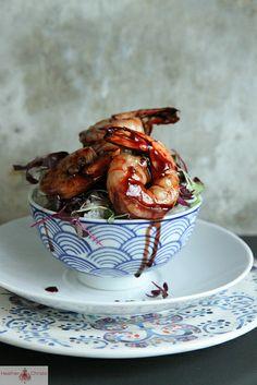 Pomegranate Glazed Shrimp