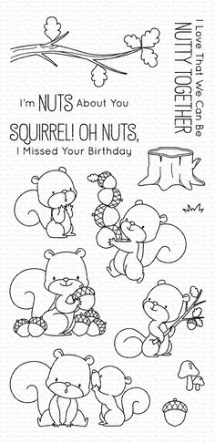 My Favorite Things - Clear Stamp - BB Squirrel! clipart My Favorite Things - Clear Stamp - BB Squirrel Graphic 45, Boutique Scrapbooking, Tampons Transparents, Parchment Craft, Mft Stamps, Simple Stories, Woodland Creatures, Penny Black, Hero Arts