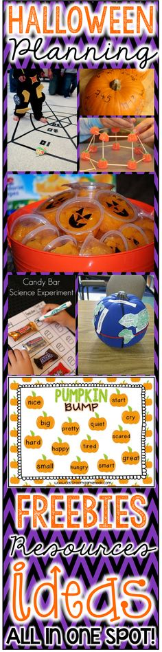 Plan your Halloween/Fall party activities in a SNAP.  This download includes links to freebies, books, games, and ideas to make your planning as easy as 1,2,3!