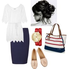 Happy Fourth! by den-ely16 on Polyvore featuring polyvore moda style Miguelina Sugarhill Boutique Oasis Lauren Ralph Lauren
