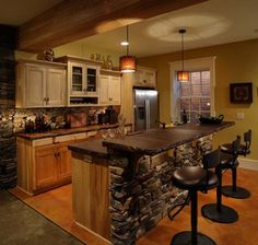 Amazing and stylish kitchen with concrete countertops