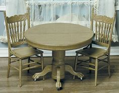 Dollhouse ROUND TABLE W/2 CHAIRS KIT $13.61 (38% OFF)