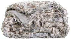 WHITE FOX Pälspläd 145x180 - Annorlunda Möbler