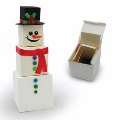 3D Snowman Nesting Boxes