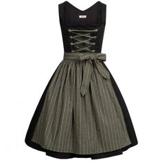 midi dirndl in black by Almsach
