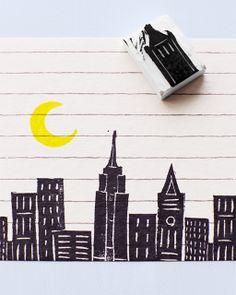 Lova's World: Printmaking & Stamping from erasers!