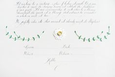 Oh So Beautiful Paper: Quilled Floral and Calligraphy Ketubah by Ann Martin & Tara Jones
