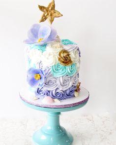 Mermaid cake, rosette cake, mermaid rosette cake, rosette cakes, mermaid cakes