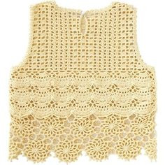 Pattern is Japanese but fully charted using standard knitting and/or crochet symbols. For help using Japanese charted patterns, please visit the Japanese knitting & crochet group. Gilet Crochet, Crochet Shirt, Crochet Crop Top, Knit Crochet, Crochet Vests, Crochet Braids, Easy Crochet, Crochet Symbols, Crochet Stitches