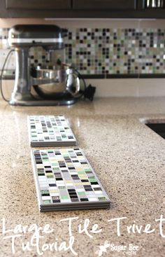 This is how to make a large tile trivet - easy to do, and they are perfect for setting several hot dishes on (think buffet style when entertaining)