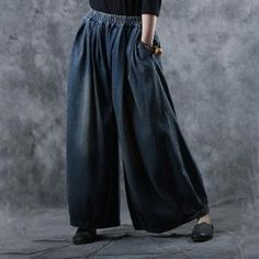 Buy Vintage Style Denim Balloon Pants Cotton Plus Size Baggy Jeans in Jeans online shop, Morimiss offers Jeans to make you feel comfortable Skirt Pants, Denim Pants, Women's Jeans, Vintage Fashion, Vintage Style, Women's Fashion, Balloon Pants, Comfortable Jeans, Vintage Cotton