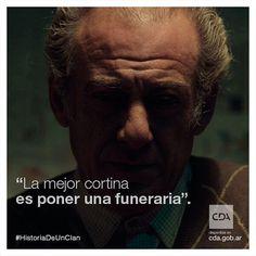 """""""La mejor cortina es poner una funeraria"""" #ArquímedesPuccio en #HistoriaDeUnClan  #Clan #Puccio #Series #FicciónNacional #Ficción #ContenidosDigitales #SeriesTV #VideosaDemanda     Disponible en #CDA"""
