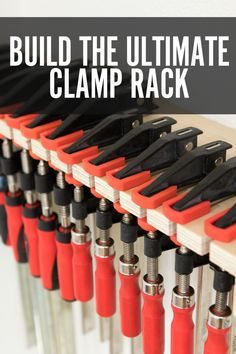 A functioning clamp rack. Every shop's gotta have one. I present this design: infinitely adaptable to any scale, and able to hold almost any type of clamp. You can build the whole thing with some scrap plywood, a jigsaw, and drill, and make one - no matter the size - in well under an hour.