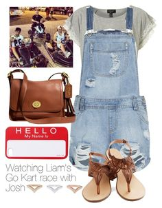"""Watching Liam's Go Kart race with Josh"" by lenlin80 ❤ liked on Polyvore featuring Payne and Coach"