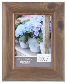 Pinnacle Teak Scoop Picture Frame