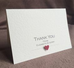 50 X Personalised Handmade Wedding Thank You Cards