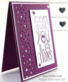 Stampin' Up! UK Demonstrator Pootles - Bravo Rich Razzleberry with Confetti Stars on Top!