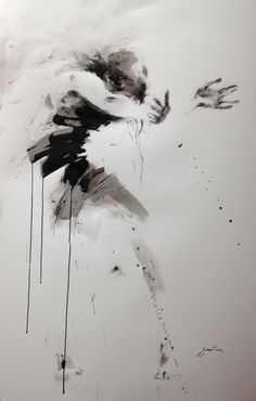 ewa hauton 143x89cm, ink painting on paper