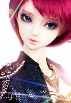Cynthia, 1/3 BJD from Angell-Studio.  I love the way her face is so beautiful, yet still has so much personality.  There's a mind, and mischief, behind those eyes!