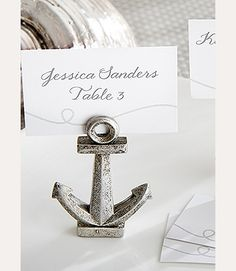 Nautical Anchor Place Card/Photo Holder