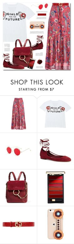 """""""Bohemian"""" by defivirda ❤ liked on Polyvore featuring Diane Von Furstenberg, Chloé, L'Oréal Paris, Gucci, Fendi and Charlotte Russe"""