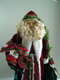 Vintage Father Christmas Doll Tree Topper by enchantedmistdesigns, $69.00