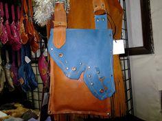 Handcrafted OOAK Leather Boho Messenger by WhiteBuffaloCreation