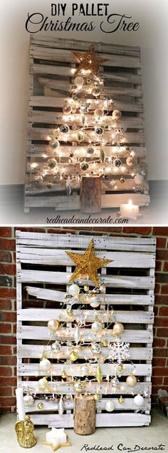 Transform a Pallet into a Christmas Tree